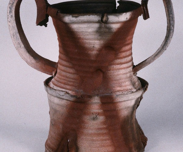 Stacked form #2, Earthenware, 18 x 8 x 8